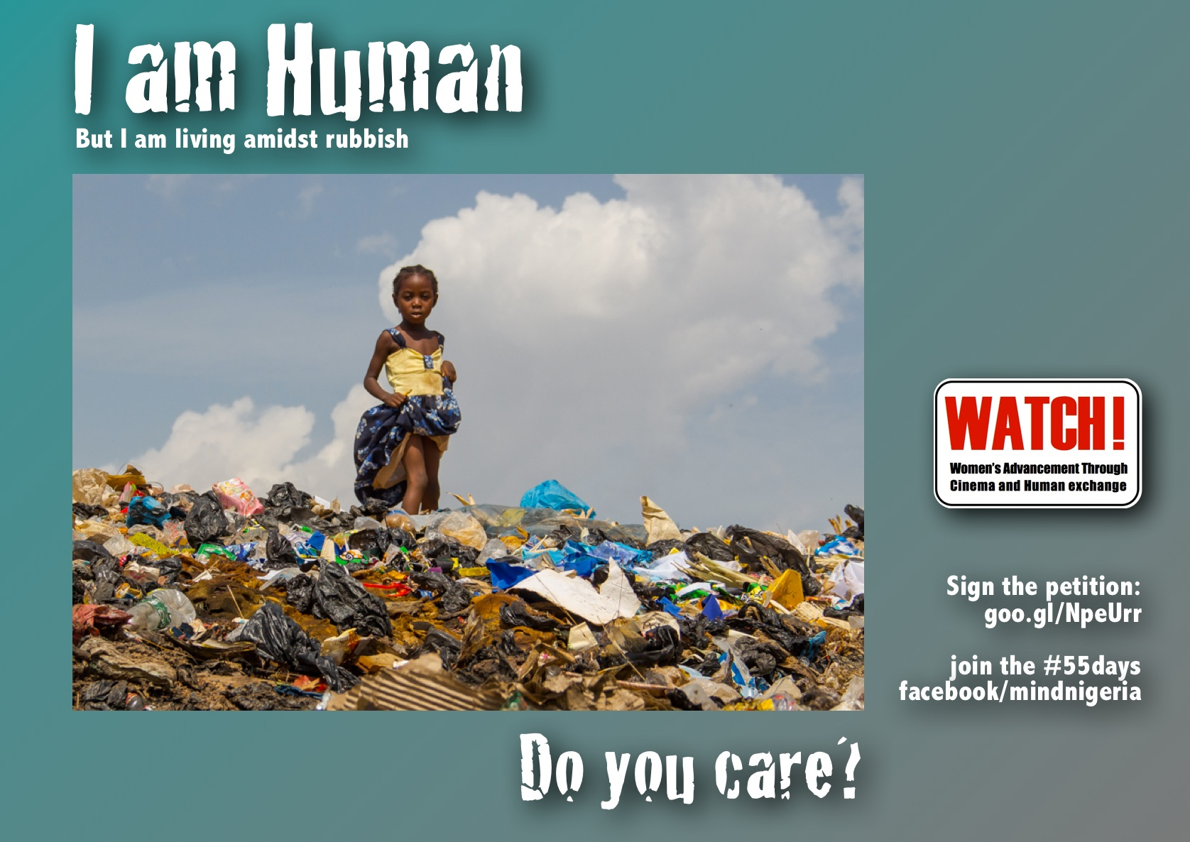 I am human but I am living amidst rubbish